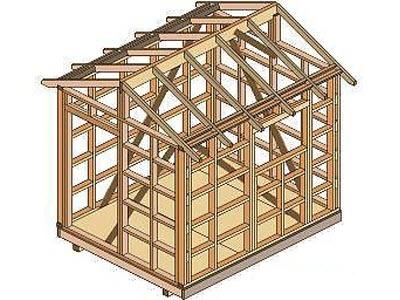 bouwtekening schuur