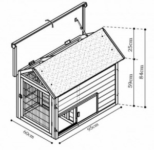 Betere bouwtekening-konijnenhok - Bouwtekeningen Pakket.nl QY-84