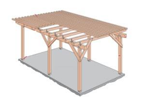 terrasoverkapping bouwtekening
