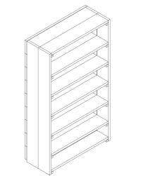 boekenkast bouwtekening