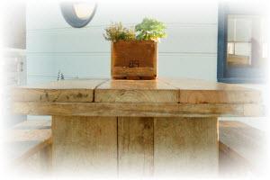 steigerhouten tafel maken met de tafel bouwtekening