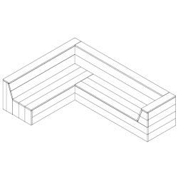 steigerhouten hoekbank bouwtekening