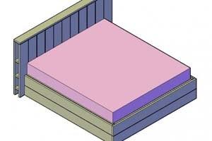 Bouwtekening steigerhout bed