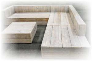 Loungebank maken steigerhout min bouwtekeningen pakket