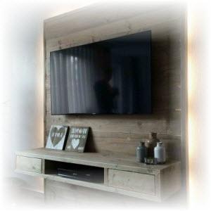 houten tv wand