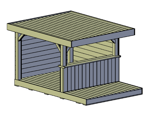 overkapping veranda bouwtekening