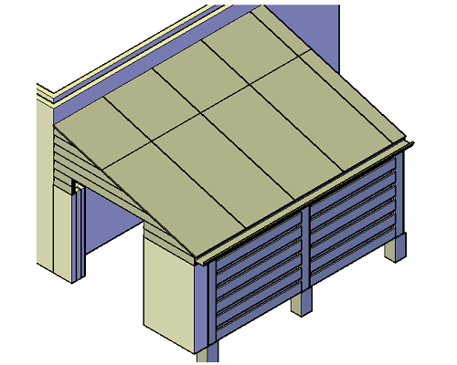 bouwtekening schuur overkapping
