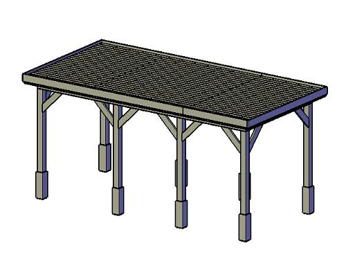 bouwtekening Overkapping-type-B