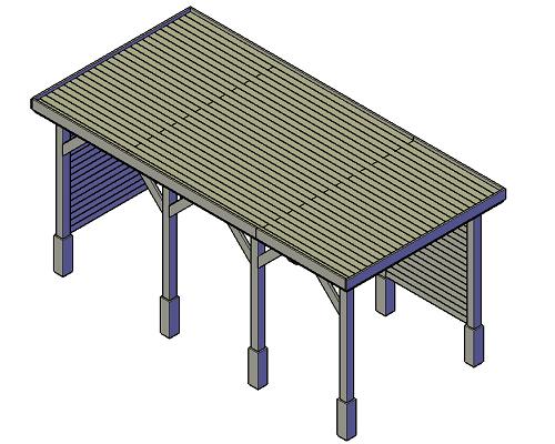 bouwtekening overkapping zijwand links