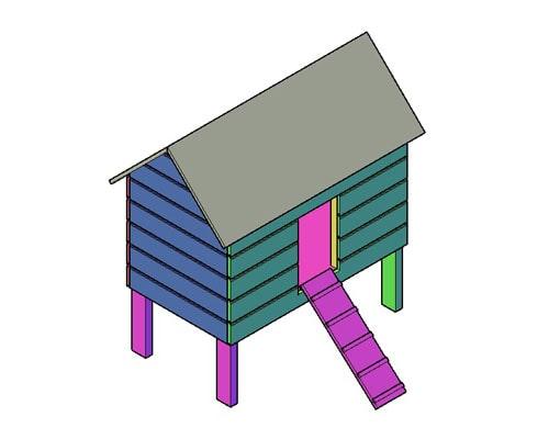 Kippenhok type B bouwtekening