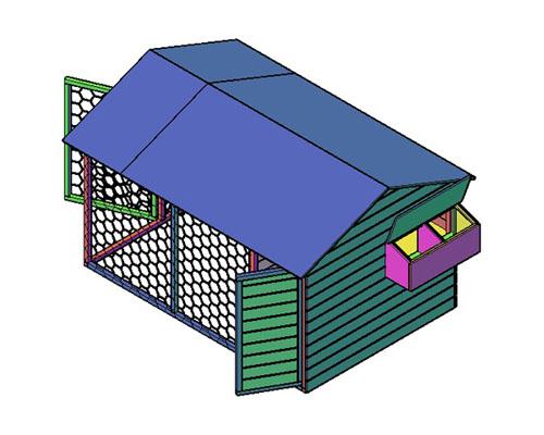 Kippenhok type C bouwtekening