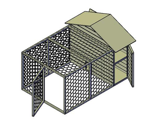 Kippenhok type D bouwtekening
