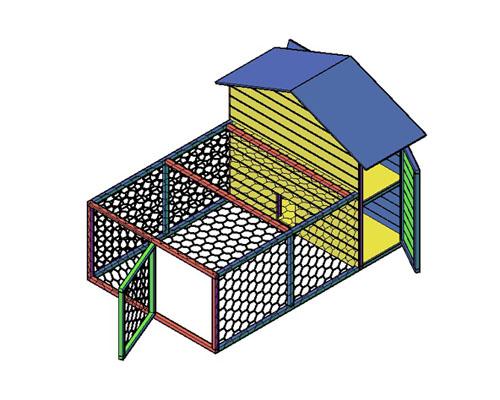 Kippenhok type E bouwtekening