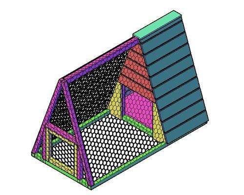 Kippenhok type F bouwtekening