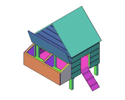 Kippenhok type H bouwtekening