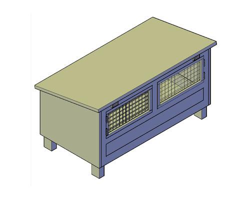 Kippenhok type I bouwtekening