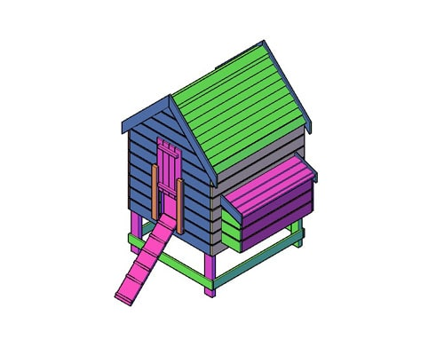Kippenhok type J bouwtekening