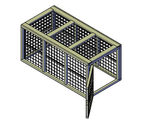 Kippenren groot bouwtekening