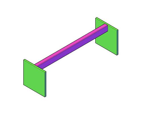Vierkant zitstok bouwtekening