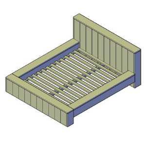 bed bouwtekening
