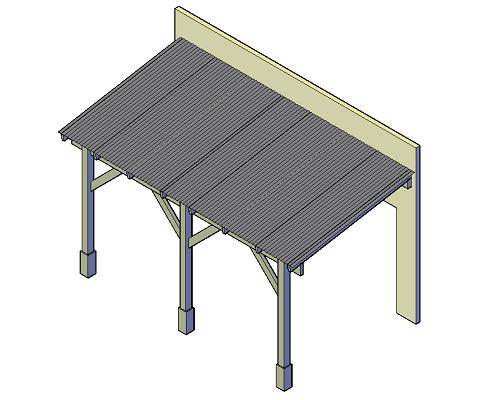 Veranda met schuin dak groot