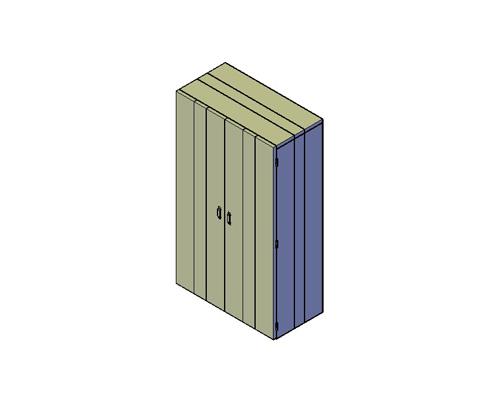 bouwtekening kast met deuren
