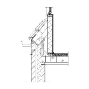 Dakkapel onderkant bouwtekening