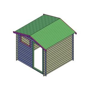 bouwtekening blokhut