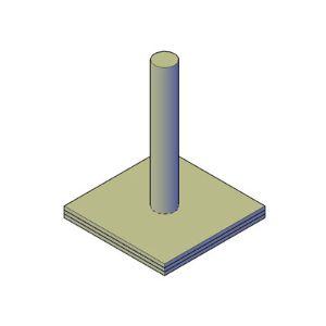 Krabpaal bouwtekening